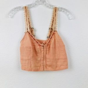 FREE PEOPLE ONE BOHO CROP TOP SIZE L